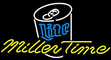 "Brand New MILLER LITE Life Time Live Pub Beer Bar Neon Light Sign 17""x 15"" [High Quality]"