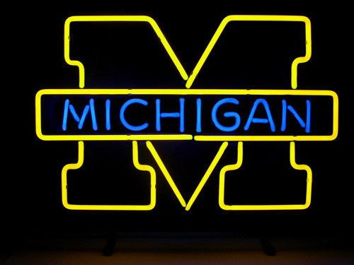 """Brand New NCAA Michigan Wolverines College Beer Bar Neon Light Sign 18""""x 16"""" [High Quality]"""