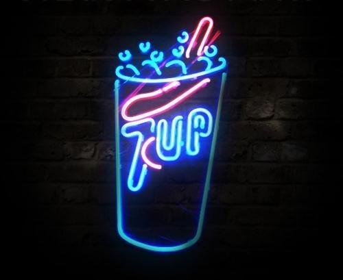 "Brand New Seven Up Soda Coke Beer Bar Neon Light Sign 17""x 11"" [High Quality]"