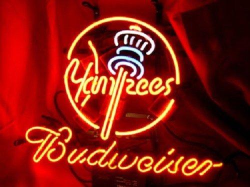 "Brand New Budweiser New York Yankees MLB Beer Bar Pub Neon Light Sign 14""x 8"" [High Quality]"