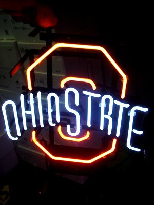 """Brand New NCAA Ohio State University Beer Neon Light Sign 17""""x14"""" [High Quality]"""