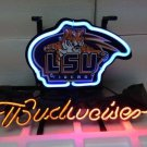 "Brand New Budweiser LSU Tigers Sports Logo Beer Bar Pub Neon Light Sign 14""x 8"" [High Quality]"