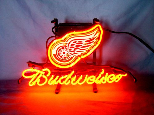 "Brand New NHL Detroit Red Wings Beer Neon Light Sign 14""x 8"" [High Quality]"