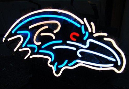 "Brand New NFL Baltimore Ravens Logo Bar Neon Light Sign 18""x 16"" [High Quality]"