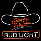 "Brand New Bud Light George Strait Beer Neon Light Sign 16""x 15"" [High Quality]"