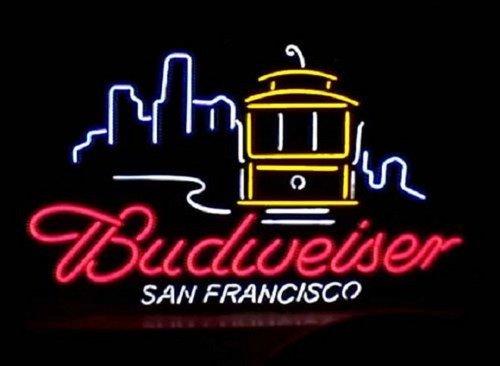 "Brand New BUDWEISER San Francisco City Neon Light Sign 17""x 15"" [High Quality]"