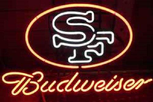 "Brand New BUDWEISER Beer NFL San Francisco 49ers Beer Bar Neon Light Sign 17""x15"" [High Quality]"