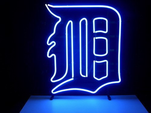 "Brand New MLB Detroit Tigers Beer Bar Pub Neon Light Sign 18""x16"" [High Quality]"