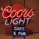 "Brand New Rare Coors Light Cafe Beer Bar Neon Light Sign 18""x 16"" [High Quality]"