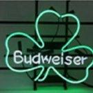 "Brand New BUDWEISER Lucky Leaf Shamrock Beer Bar Pub Neon Light Sign 16""x14"" [High Quality]"
