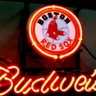 "Brand New BUDWEISER Beer Boston Red Sox Neon Light Sign 14""x 8"" [High Quality]"