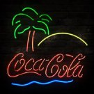 "Brand New Coca Cola Beach Coke Palm Beer Bar Neon Sign 18""x16"" [High Quality]"