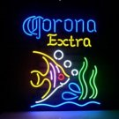 "Brand New Corona Extra Tropical Fish Mexico Beer Bar Pub Neon Light Sign 18""x16"" [High Quality]"