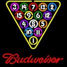 "Brand New Budweiser Snooker Billiard Beer Bar Pub Neon Light Sign 16""x 15"" [High Quality]"