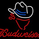 "Brand New Budweiser Cowboy Beer Bar Neon Light Sign 16""x 15"" [High Quality]"