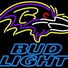 "Brand New NFL Baltimore Ravens Bud Light Beer Bar Neon Light Sign 16""x 15"" [High Quality]"