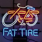 "Brand New Fat Tire Bike Bar Pub Neon Light Sign 16""x15"" [High Quality]"