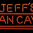 "Brand New Jeff's Man Cave Logo Beer Bar Neon Light Sign 18""x 16"" [High Quality]"