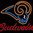 "Brand New Budweiser NFL St. Louis Rams Beer Bar Pub Neon Light Sign 16""x 15"" [High Quality]"