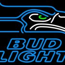 "Brand New Bud Light NFL Seattle Seahawks Beer Bar Pub Neon Light Sign 16""x 15"" [High Quality]"