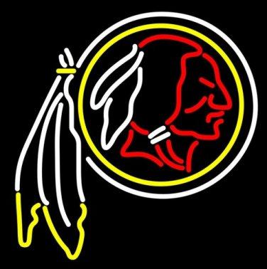 "Brand New NFL Washington Redskins Beer Bar Pub Neon Light Sign 16""x 15"" [High Quality]"