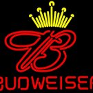 "Brand New Budweiser King of beer it up Beer Bar Neon Light Sign 16""x 15"" [High Quality]"
