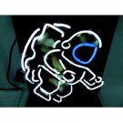 """Brand New Spaceman Real Glass Tube Beer Bar Pub Neon Light Sign 16""""x 15"""" [High Quality]"""