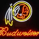 "Brand New NFL Washington Redskins Budweiser Beer Bar Pub Neon Light Sign 16""x14"" [High Quality]"