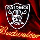 "Brand New NFL Oakland Raiders Budweiser Beer Bar Pub Neon Light Sign 16""x14"" [High Quality]"