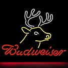 "Brand New Budweiser Deer Beer Bar Pub Neon Light Sign 16""x15"" [High Quality]"