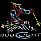 "Brand New Bud Light Ski Sport Beer Bar Neon Light Sign 16""x 15"" [High Quality]"