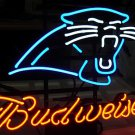 "Brand New Budweiser NFL Carolina Panthers Football Neon Light Sign 16""x 14"" [High Quality]"