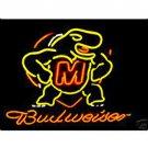 "Brand New NCAA Maryland Turtle Budweiser Neon Light Sign 16""x14"" [High Quality]"
