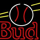 "Brand New Bud Light Beer Baseball Logo Neon Light Sign 16""x15"" [High Quality]"