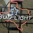 "Brand New Bud Light Texas State Star Neon Light Sign 16""x 15"" [High Quality]"