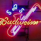 "Brand New Saxophone Jazz Budweiser Neon Light Sign 16""x 14"" [High Quality]"
