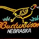 "Brand New Nebraska Pheasant Budweiser Neon Light Sign 20""x18"" [High Quality]"