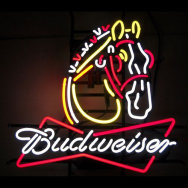 """Brand New Horse Clydesdale Budweiser Neon Light Sign 22""""x18"""" [High Quality]"""