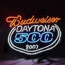 "Brand New Daytona 500 2007 Budweiser Neon Light Sign 16""x14"" [High Quality]"