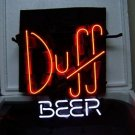 "Brand New Duff Beer Bar Real Glass Tube Neon Light Sign 17""x 14"" [High Quality]"