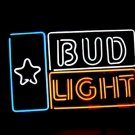 "Brand New Bud Light Star Beer Bar Pub Neon Light Sign 16""x14"" [High Quality]"