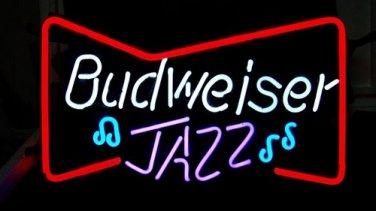 "Brand New Budweiser Jazz Bottie Beer Bar Pub Neon Light Sign 17""x14"" [High Quality]"