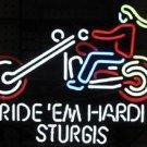 "Brand New Ride em' Hardi Sturgis Beer Bar Pub Neon Light Sign 16""x14 [High Quality]"