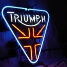 "Brand New Triumph British Motor Beer Bar Neon Light Sign 16""x 14"" [High Quality]"