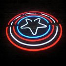 "Brand New Captain America Shield Bar Neon Light Sign 16""x 14"" [High Quality]"
