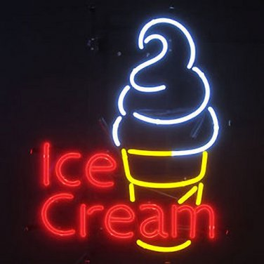 "Brand New Soft Cream Beer Bar Pub Neon Light Sign 17""x 14"" [High Quality]"