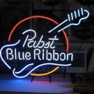 "Brand New Pabst Blue Ribbon Guitar Beer Neon Light Sign 22""x 18"" [High Quality]"