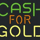 "Brand New Cash For Gold Beer Bar Neon Light Sign 16""x15""[High Quality]"