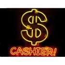 "Brand New Cashier! $ Beer Bar Neon Light Sign 22""x 18"" [High Quality]"