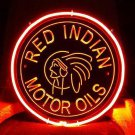 "Brand New Red Indian Motor Oils 3D Acrylic Beer Bar Neon Light Sign 11""x 11"" [High Quality]"